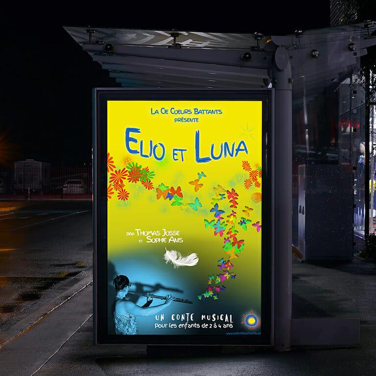 Affiche Elio et Luna Cie Coeurs Battants