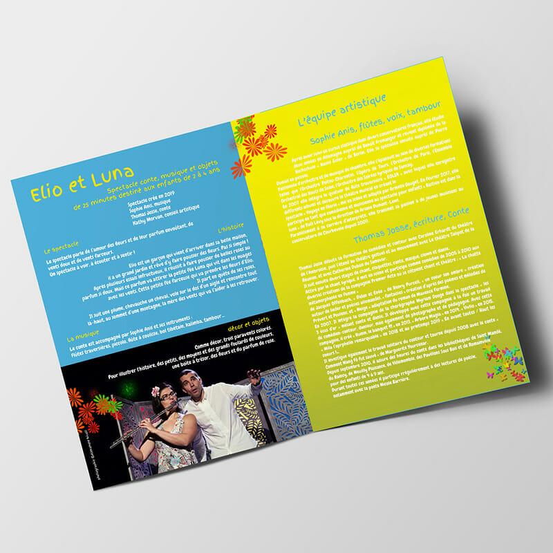 Brochure Elio et Luna pour la Cie Coeurs Battants